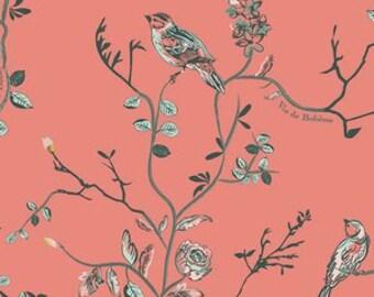 Baby Bedding Crib Bedding - Bird, Flowers, Coral, Green, Baby Girl - Baby Blanket, Crib Sheet, Crib Skirt, Changing Pad Cover, Boppy Cover