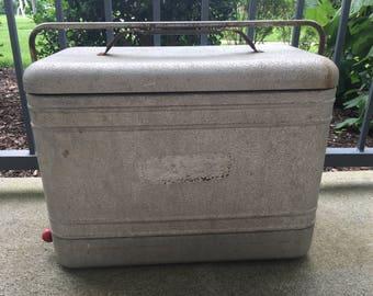 Metal Cooler, Vintage Cooler, Cooler, Retro Cooler, Industrial