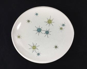 Vintage Franciscan Starburst Large Chop Plate * Atomic Age Dinnerware * Mid Century Dishes * Platter