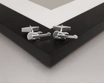 Guitar Cufflinks in Sterling Silver.