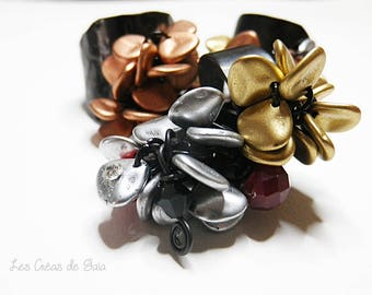 Berber rings rings metal charms to choose • handcrafted jewelry • chic and trendy • Metal patina, glass beads