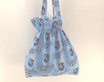 Kansas City Royals, Kansas City Fabric, KC Tote Bag, Blue Tote, Royals Fan Gift, Royals purse, Kansas City bag, Royals Tote, KC Royals Tote