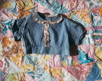 Toddler Cornflower Blue Cropped Blouse