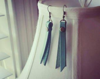 Leather Tassel Earrings