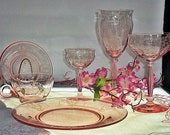 HTF ~ 24 Pieces Of Tiffin Empire ~ Rose Pink