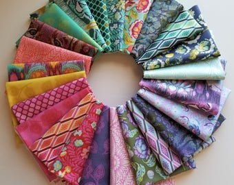 Eden Fat Quarter Bundle of 24 prints - Tula Pink - Free Spirit Fabrics