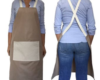 FULL APRON, One Size - JAPANESE apron, Canvas Apron, mens apron, work Apron, womens Apron, Bbq Apron, Delantal, Tablier