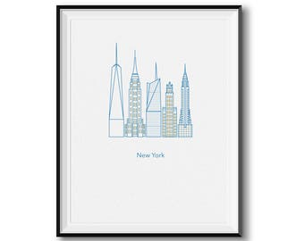 New York Structures Print