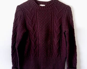 Purple Cable Knit Gap Sweater