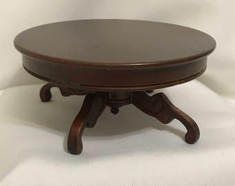 "Dollhouse Miniature 1"" Scale Victorian Pedestal Table"