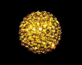 RARE: 1 20 mm Topaz Crystal - Necklace Shamballa disco bead