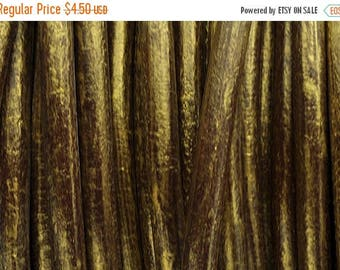 "30% OFF 2ft/24""  - 5MM Round Leather Cord - Antique Gold"