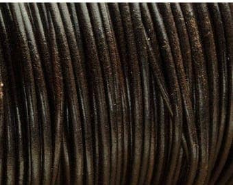30% OFF 2MM Round Leather Cord - Chocolate Brown - 2Yards/6ft - High Quality European Leather Cord