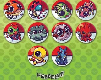 Second Generation Bug pokémon button