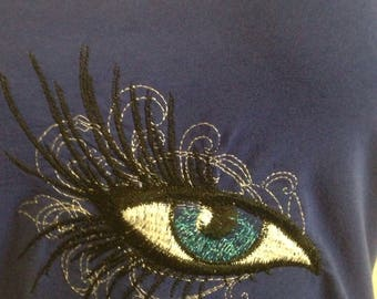 Glamour Eye Embroidered Tee