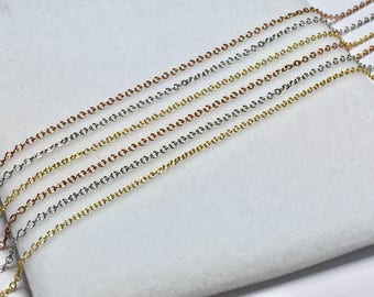 Elegant Gold Chain Necklace l 14KT Yellow White & Rose Gold Chain Necklace l Thin Gold Pendant Chain