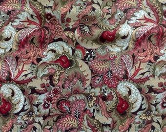 Hampton Court Fancy Leaf Green by Legacy Studios/Premium Quilting Sewing Craft Fabric/Fancy Ruffled Leaves/HALF Yard Pricing