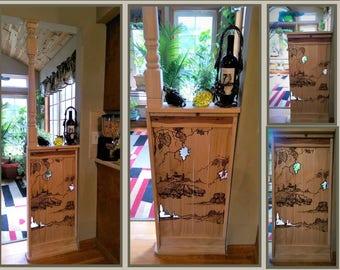Half Wall Room Divider Rustic Decor Rustic Art Room Dividers Wine