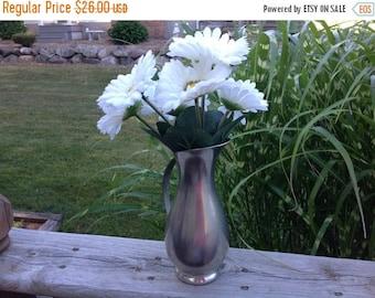 4th of July sale Pewter Pitcher/Vase Vintage Pewter Pitcher Pewter Royal Holland Pewter Pitcher