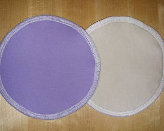 Lavender - One pair (2 pcs) Leakproof Washable NURSING PADS breast pads