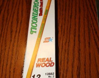 12 New in Box Dixon Ticonderoga Pencils # 2 Soft- Made in USA