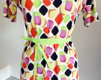 Multi coloured jersey tunic dress