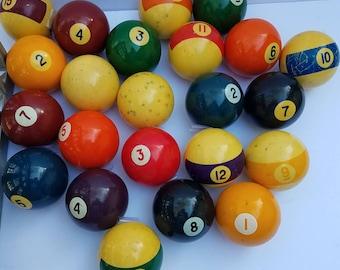 23 Old Pool Balls