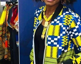 Bumper, African print jacket