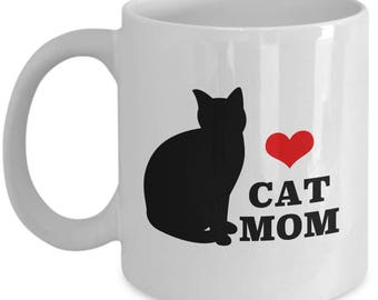 Cat Mom Mother's Day Gift Animal Lover Rescue Love Coffee Cup Mug