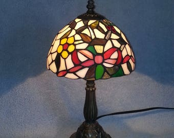 Stained Glass Lamp - Floral Motif