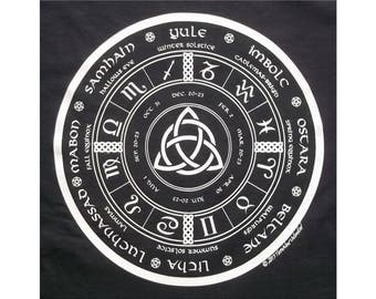 Triquetra Pagan Wheel of the Year Astrology Celtic T-Shirt WH