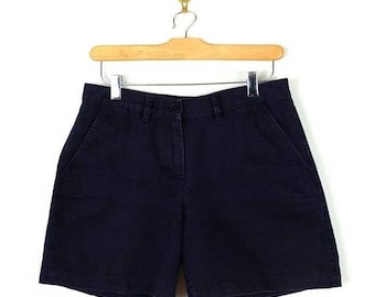 ON SALE Ralph Lauren Navy Cotton Shorts from 90's/W28*