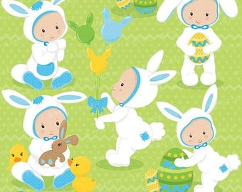 80% OFF SALE easter babies clipart commercial use, vector graphics, digital clip art, digital images - CL644