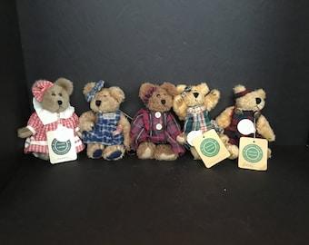 Boyd's Bears in Plaid - Set of 5