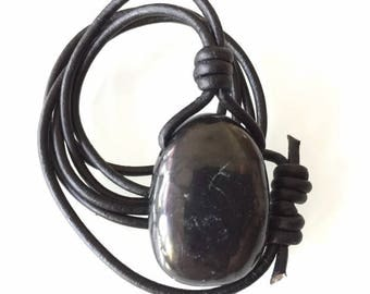 Shungite Pendant Necklace (NKLAC-0056)