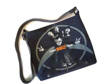 U2 Bag - U2 Tshirt Bag - Upcycled Tshirt Bag - Band Tee Bag - U2 Gift - Crossbody Bag