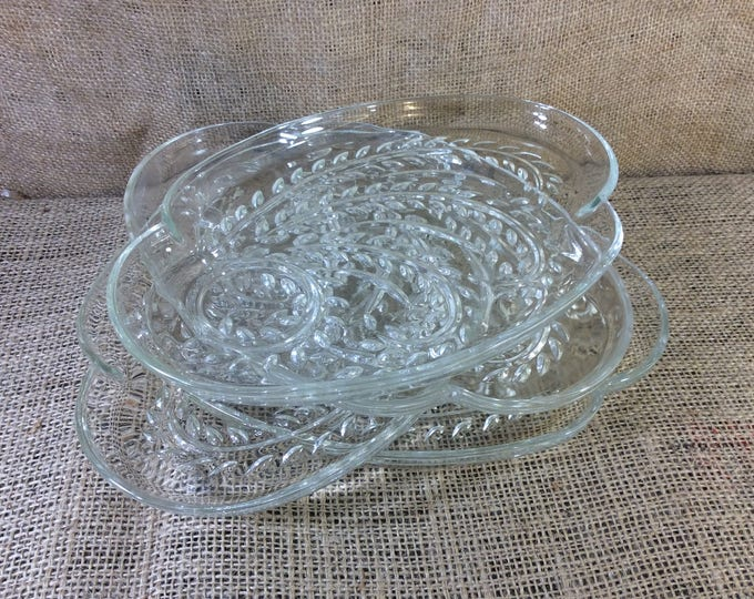 Homestead snackmaster glass plate, the federal glass co, I will offer bulk pricing I have 23 of them, vintage wheat design, garden party