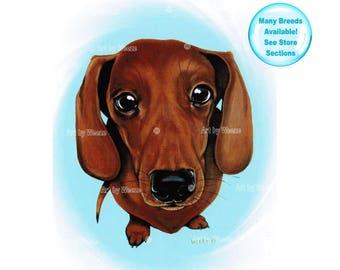 Dachshund - Dachshund Art - Doxie - Weiner Dog - Dachshunds - Dachshund Print - Dachshund Painting - Dog Breeds - Dog Portrait