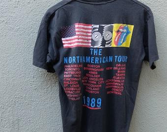 Vintage Rolling Stones Tee - 1989 Steel Wheels Tour