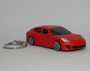porsche panamera turbo free shipping birthday and anniversary gift key chain 3 collectible metal diecast