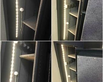 Motion Activated Battery LED Gun Safe Light Strip White Automatic Off Smart Night Light Illumination with Motion Sensor - Great Closet Light