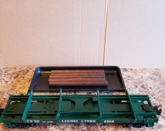 Lionel Trains 3364 Green Log Dump Car with 160 Bin and Logs