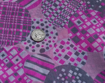 Vintage pink mod fabric
