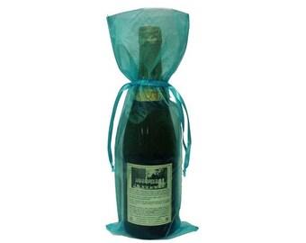 Turquoise Bottle / Wine Organza Gift Bag