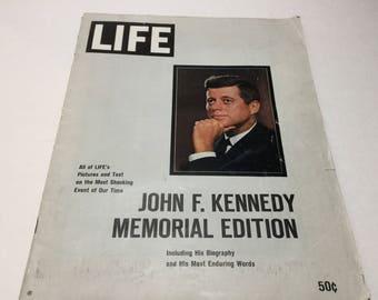 Vintage 1963 LIFE Magazine John F. Kennedy Memorial Edition