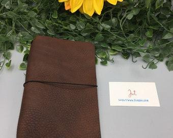CJ12 - Mahogany - ClassicJot Traveler's Notebook/Planner Cover/Journal