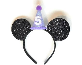 Minnie Birthday Ears || Mini Hat || First Birthday Outfit || Minnie Ears || Disney Any Age Birthday Outfit |