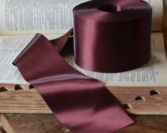 wide dark burgundy satin ribbon