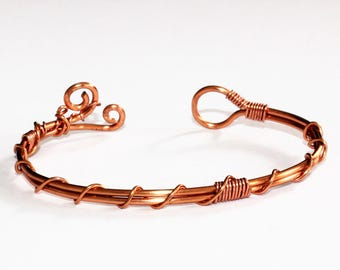 Copper Wire Wrapped Bracelet/Bangle ~ Gift for Her