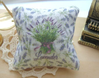 dollhouse lavender filled pillow cushion french scented 12th scale miniature